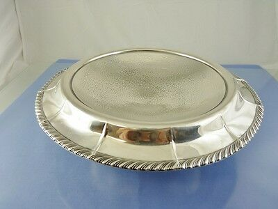 "Gadroon Rim Hammered Pedestal Weighted Sterling Bowl 10"" By Webster Co"