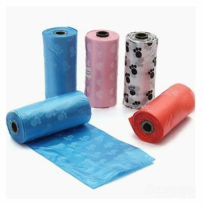 10 Rolls Pet Dog Cats Waste Pick Printing Degradable Poop Clean Up Bag & Refills