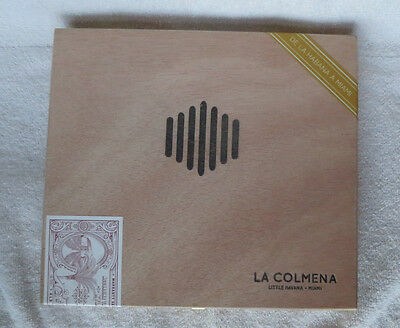 WARPED LA COLMENA AMADO No. 36 NATURAL WOOD CIGAR BOX  - BEAUTIFUL!