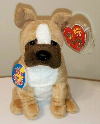 Ty Beanie Baby BB 2.0 ~ CARGO the Dog ~ MINT with MINT TAGS ~ Stuffed Animal Toy