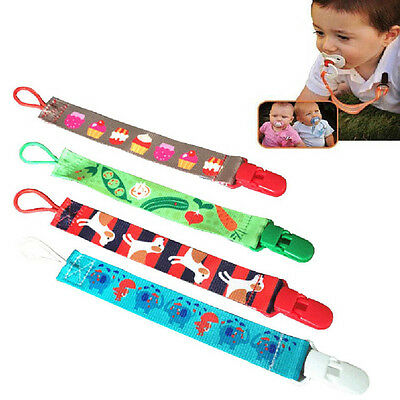 WDS Baby Boy Girl Dummy Pacifier Soother Nipple Leash Strap Chain Clip Holder