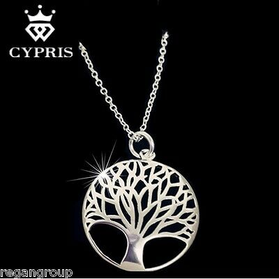 Tree Of Life Pendant Stunning Silver Stamped 925 w/18 inch Necklace Cypris