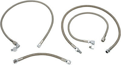 Drag Specialties Braided Oil Line Kit For Harley Stainless Steel 0711-0040