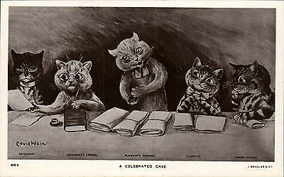 Louis Wain Cats. A Celebrated Case # 915 V by J. Beagles. Legal Comic.