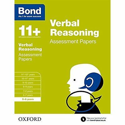 Bond 11+: Verbal Reasoning: Assessment Papers: 5-6 year - J M Bond (Autho NEW Pa