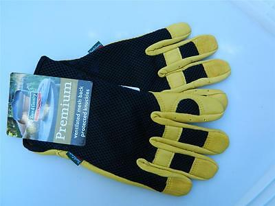 Town & Country Ladies Premium S Gloves Breathable Leather Ventilated mesh back