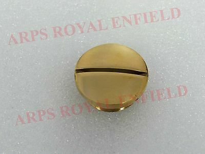 All New Brass Chain Case Inspection Plug Clutch Cover Oil Nut Royal Enfield