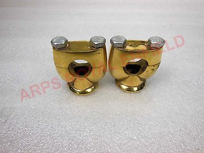 New Custom Made Brass 7/8'' Handlebar Risers Units For Many Motorcycle