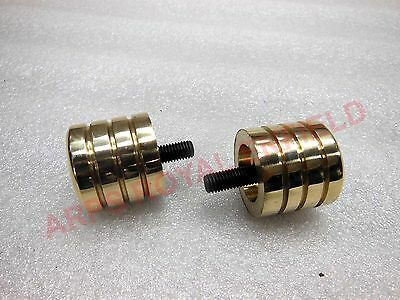 New Royal Enfield Brass Made Handlebar End Weights With Screws
