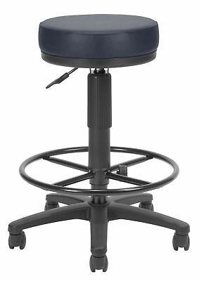 OFM Height Adjustable Drafting Stool with Casters Teal Vinyl Included