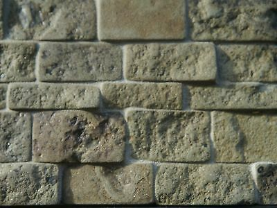 100 sq ins Rough Faced Green Stone REAL STONE cladding for Dolls Houses & Models
