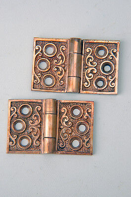 "Antique Victorian Shutter Hinges 1-1/4"" X 2"" W Cast Bronze AH01171601"