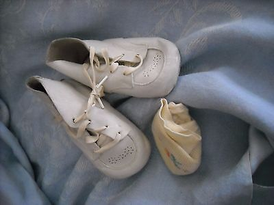 vintage leather baby shoes nursery decoration decor soft used adorable crafts