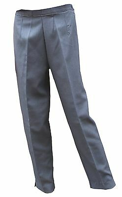 CATHEDRAL Grey Shower Proof Ladies Soft Polyester Bowling Trousers 24 I/L 31""
