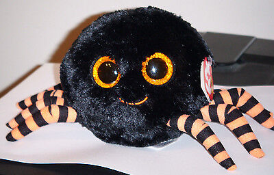 """Ty Beanie Boos ~ CRAWLY the 6"""" Black Spider ~ 2014 NEW ~ MINT with MINT TAGS"""