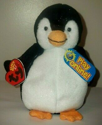 Ty Beanie Baby BB 2.0 ~ CHILL the Penguin ~ MINT with MINT TAGS ~ Stuffed Animal