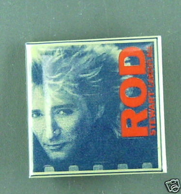 Rare Vintage Rod Stewart Button Pin  Condition New