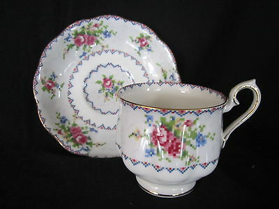 Royal Albert - PETIT POINT - Cup & Saucer - Made in England
