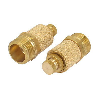 3/8BSP Thread Brass Adjustable Pneumatic Air Muffler Silencer Noise Exhaust 2pcs