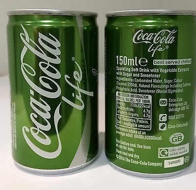Coca Cola UK 150ml 'Life' sample can - full and perfect - not sold in shops!