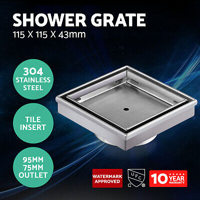 Cefito Shower Grate Tile Insert Waste Grates Drain Stainless Steel Square