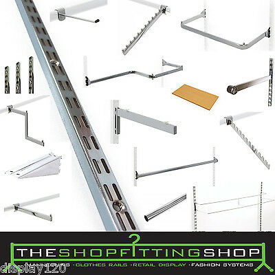 Retail Shop Wall Upright Fashion Display Storage System Clothes Garment Hangers