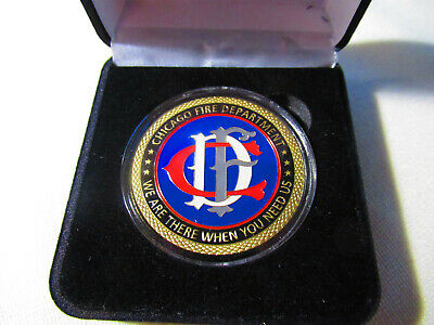 CHICAGO FIRE DEPT Challenge Coin with Gift Box