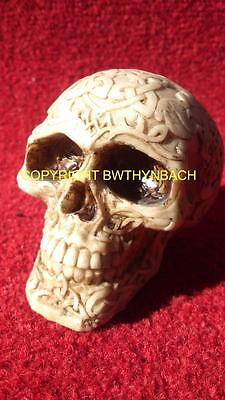 New Design Rubber Latex Mould Mold To Make Small Detailed Gothic Celtic Skull C1