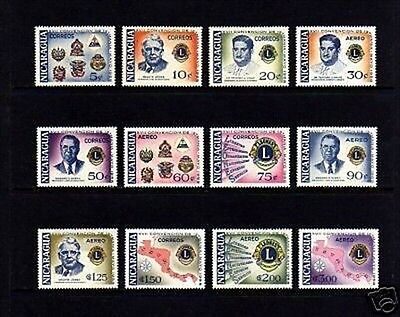 Nicaragua - 1958 - Lions  Convention - Arms - Map -  Mint - Mnh - Set Of  12!