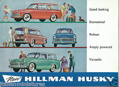 Hillman Husky Original 1961 Colour Brochure Large Fold Out Excellent Condition