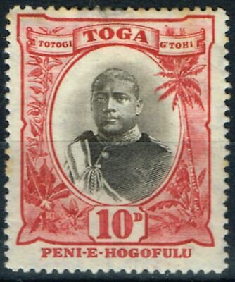 Toga 1897 10d Black & Lake SG49 Wmk Inverted Mtd Mint Unlisted