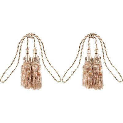 Window Curtain Hanging Beads Tassel Tiebacks Rope 2Pcs