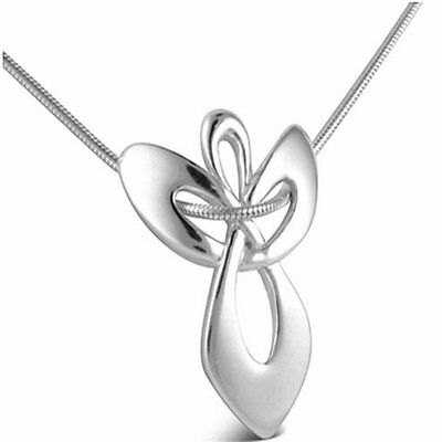 New Guardian Angel Gift Religious Cross White Gold Plated Chain Necklace Pendant