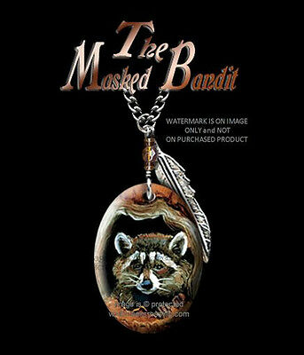 Masked Bandit Raccoon Necklace - Wild Nature Wildlife Art - Free Shipping #cbr *