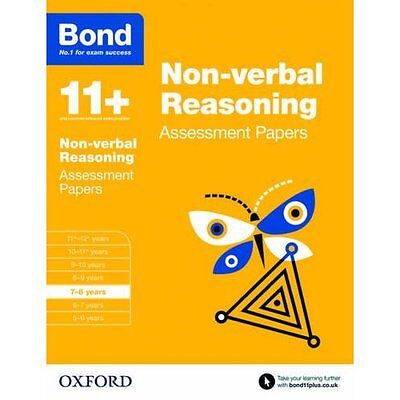 Bond 11+: Non-verbal Reasoning: Assessment Papers: 7-8  - Paperback NEW Andrew B