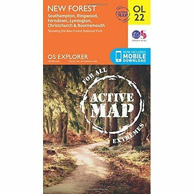 OS Explorer ACTIVE OL22 New Forest, Southampton, Ringwo - Map NEW Ordnance Surve
