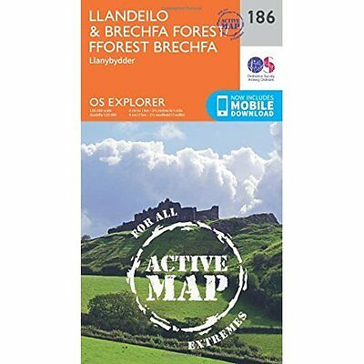 OS Explorer Map Active (186) Llandeilo and Brechfa Fore - Map NEW Ordnance Surve