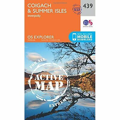 OS Explorer Map Active (439) Coigach and Summer Isles ( - Map NEW Ordnance Surve
