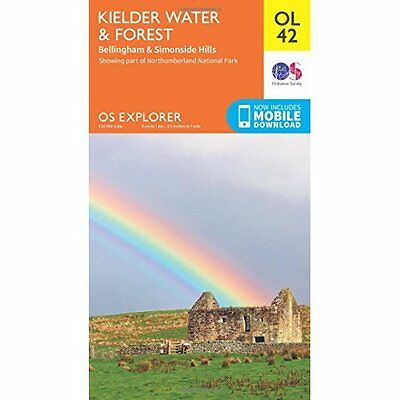 OS Explorer OL42 Kielder Water & Forest (OS Explorer Ma - Map NEW Ordnance Surve