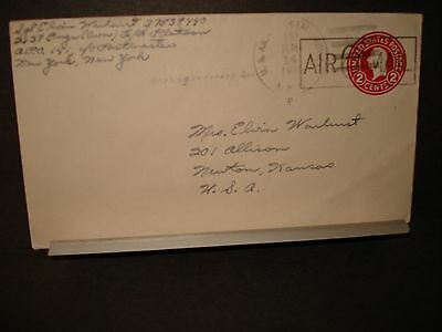 APO 141 ERLANGEN, GERMANY 1945 WWII Army Cover 2137 ENGR (AVN) Soldier's Mail
