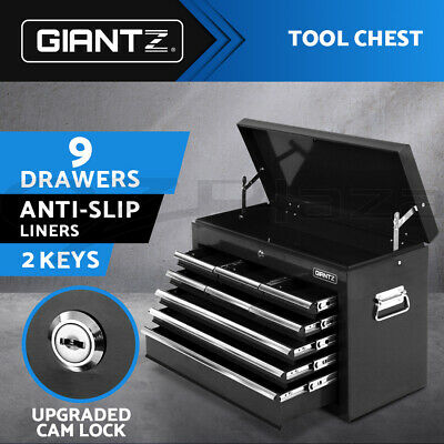 Giantz 9 Drawers  Toolbox Storage Chest Cabinet Trolley Roller Tool Box