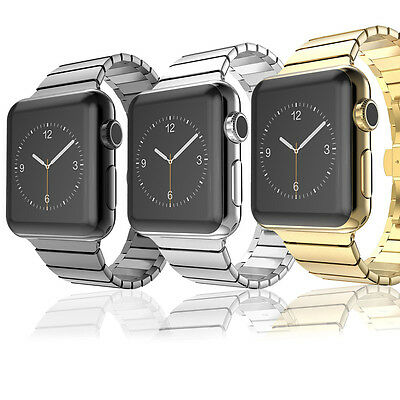 Luxury Butterfly Lock Link Band Strap Stainless Steel for Apple Watch Series 2/1