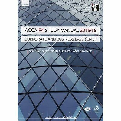 ACCA F4 Corporate and Business Law (English) Study Manu - InterActive Wor NEW Pa
