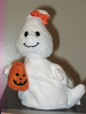 Ty Beanie Baby ~ GOULIETTE the Halloween Girl Ghost ~ MINT with MINT TAGS