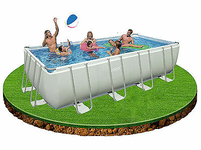 Intex 18ft x 9ft x 52in Rectangular Ultra Frame Swimming Pool + pump + ladder ++