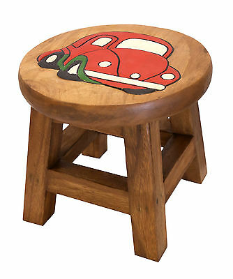 Personalised Hand Carved Children's Wooden Step Stool Engraved With Single Name