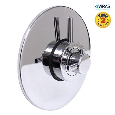 Concealed Modern Concentric Thermostatic Shower Mixer Valve Chrome | 1 Outlet
