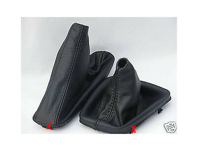 Fits Bmw E30 1982 To 1991 Shift Boot+E Brake Black Leather