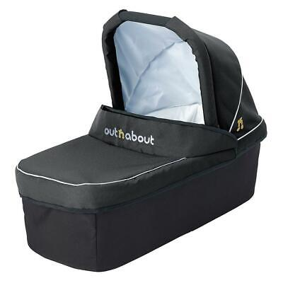 Out n About Nipper Single Carrycot (Raven Black) From Birth Newborn Pram Body