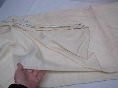 """8 YARDS VINTAGE IVORY SILK FABRIC from LEESUN FACTORY SHANGHAI CHINA 33"""" WIDE"""